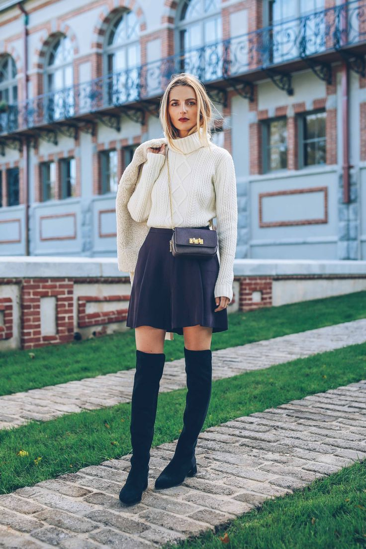 Black-Skirt-and-White-Sweater